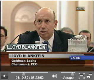 Blankfein testimony, Financial Crisis Inquiry Commission