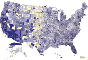 Mortgage delinquency map
