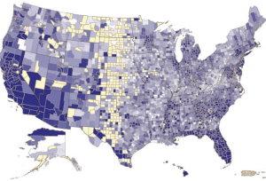 Mortgage delinquency map